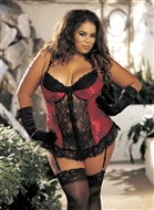 Broderad bustier, plus size